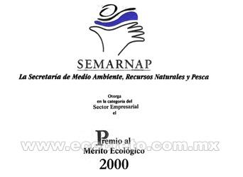 Semarnap Prêmio Mérito Ambiental